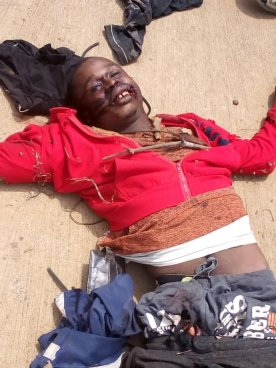 DEAD - Buea one way - Their bodies dumped on the road by other Amba Criminals