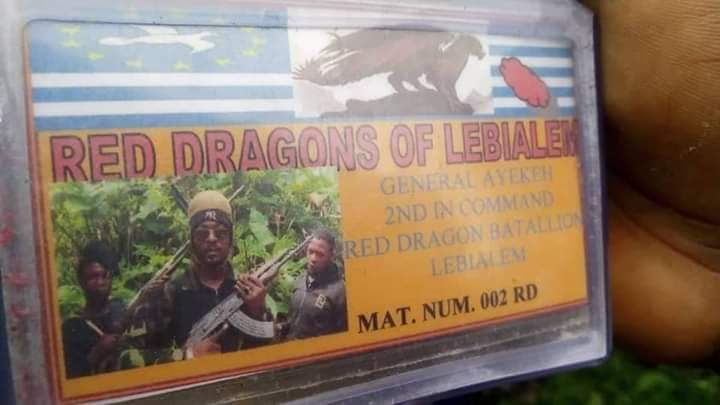 """This is his """"Ambazonia ID Card"""" LoL"""