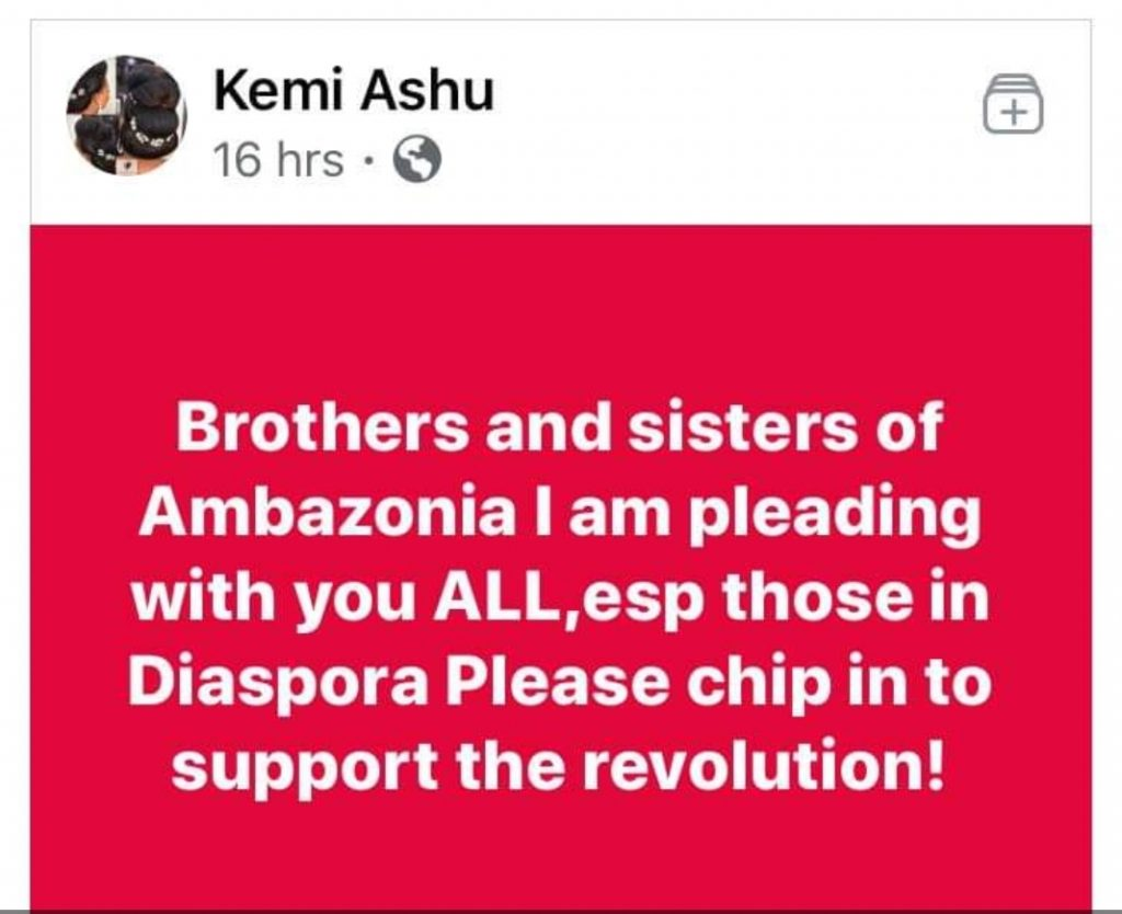 Kemi Ashu - Begging for Pocket Change on Facebook in the name of Funding Facebook Country