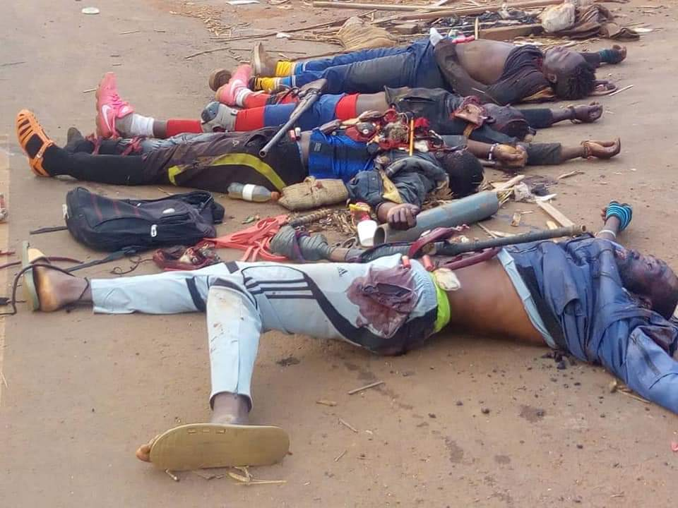 This is what Ambazonia Terrorism translates to. These manipulated gullible youths are perishing for nothing.