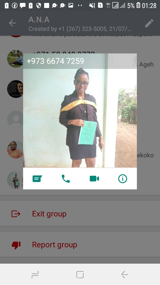 Ambazonia terrorists in ANA WHatsApp Group, Plotting to send weapons to Cameroon to kill our people. Their WhatsAPP Dislay Pictures.