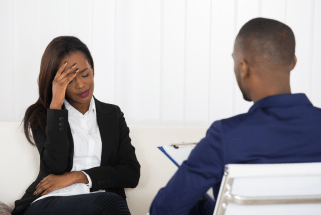 Black Male Therapist with Black Woman