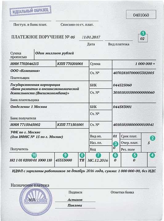 Назначение платежа в квитанции. Верно указываем назначение платежа в платежном поручении