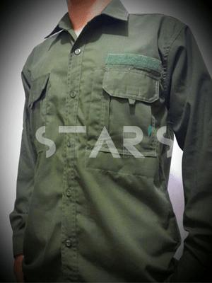 PDL Lengan Panjang Hijau Army