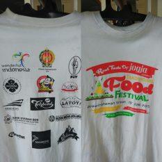 Kaos Festival Food Yogyakarta Oleh Dinas Pariwisata