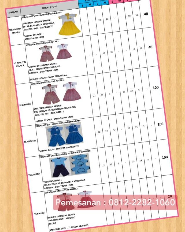 seragam sekolah tk islam murah di Taman Sari