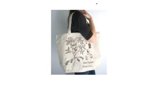 Tote Bag Blacu Putih Alami