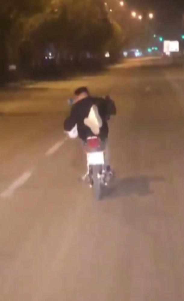 Motosiklet üzerindeki tehlikeli yolculuğa 2 bin 761 lira ceza