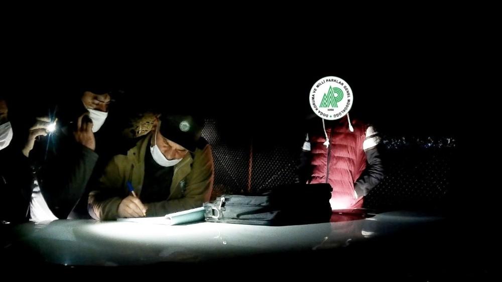 Ruhsatsız av tüfeğiyle avlanan avcıya 2 bin 89 lira ceza