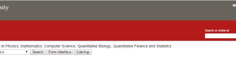 arXiv.org screenshot