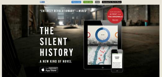 The SIlent History honlapja