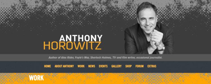Anthony Horowitz honlapja
