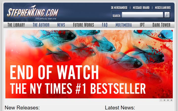 Stephen King honlapja