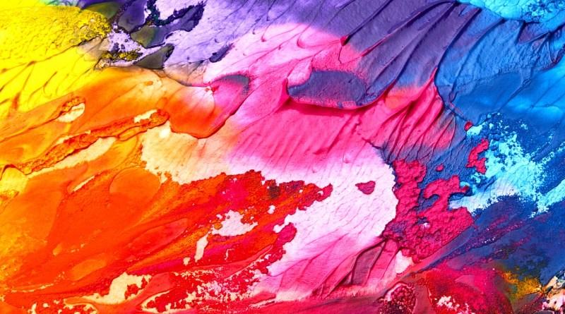 absztrakt színes festmény
