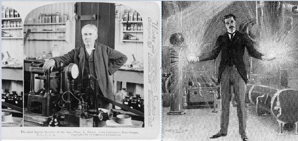 Thomas Edison and Nikola Tesla