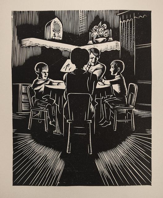 Linocut from Giacomo G Patri (1940)