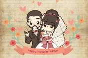 การ์ตูนงานแต่ง ออยล์ ♥ ขลุ่ย 6 มีนาคม 2560 แนวการ์ตูนแอนนิเมะ น่ารักๆ ซึ้งๆ