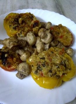 Sprout, Pumpkin & Quinoa Souffled Pepper