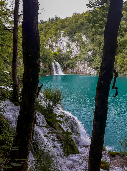 Few amazing waterfalls in Plitvice Lakes from the Lower Lakes
