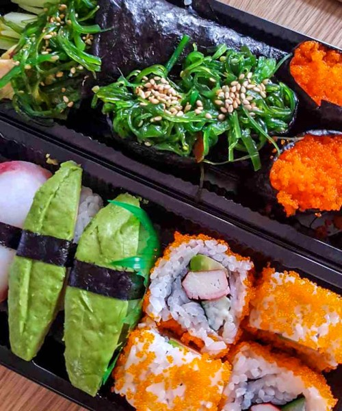 Colorful Sushi in Amsterdam
