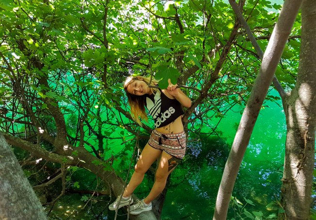 In the green and blue surreal nature of Cetina river