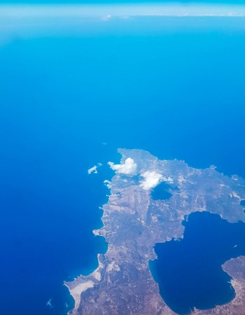 CRETE ISLAND IN gREECE FROM ABOVE