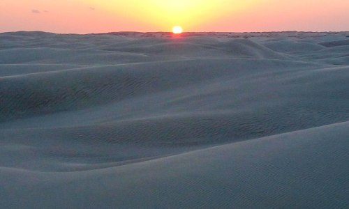 Sunset in Oman desert