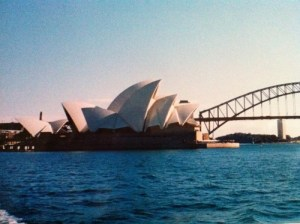 Leaving a friend behind: a photograph of Sydney Opera House