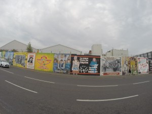Wild Rover Tours: political murals on Falls Road, West Belfast, NI