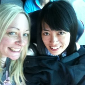 Wild Rover Tours: my friend and I on the coach