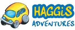 Haggis Adventures logo (yellow bus)