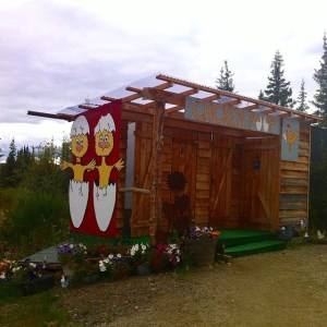 Chicken, Alaska: the Chicken Poop, kooky restrooms