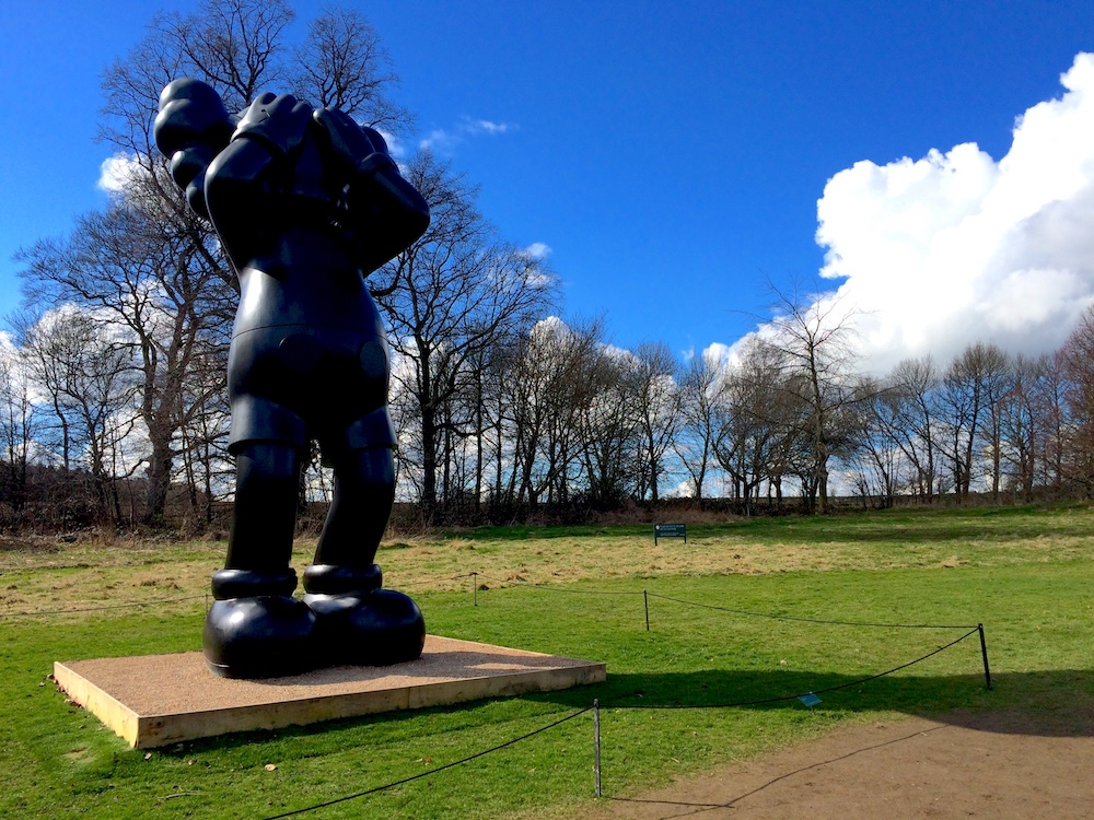 Yorkshire Sculpture Park: KAWS display 1