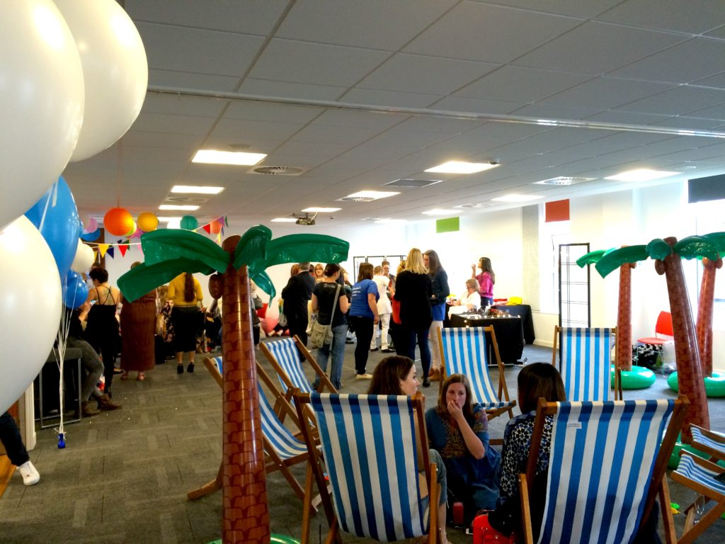 Bloggers relaxing on the deck chairs at #Jet2Sunchester