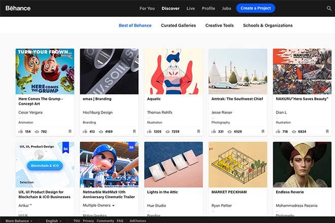 Behance - Inspiration Web Design