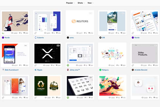 Dribble - Inspiration Web Design