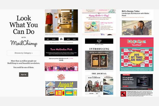 Mailchimp - Inspiration Web Design