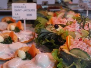 Crab and Scallops at La Charcuterie de Montmartre
