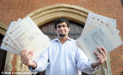 The 18 year-old boy genius took the long list of exams within 12-months netting himself 22 A grades, one B and one C