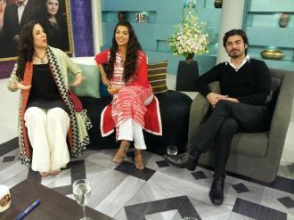 Fawad Khan, Sanam Saeed, Hadiqa Kiani, Sultana Siddiqui & Momina on Jago Pakistan Jago (17)