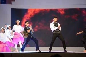Aryan Aslam with Atif Aslam - Lux Style Awards Stage