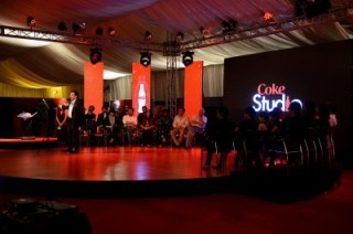 Rizwan U Khan addressing the media and guests at Coke Studio Season 6 Launch