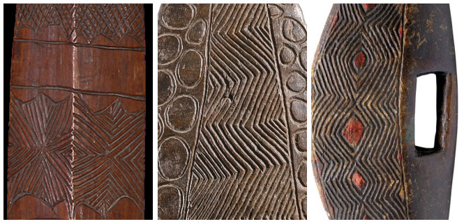 SE Australian Aboriginal Shields: Close Up