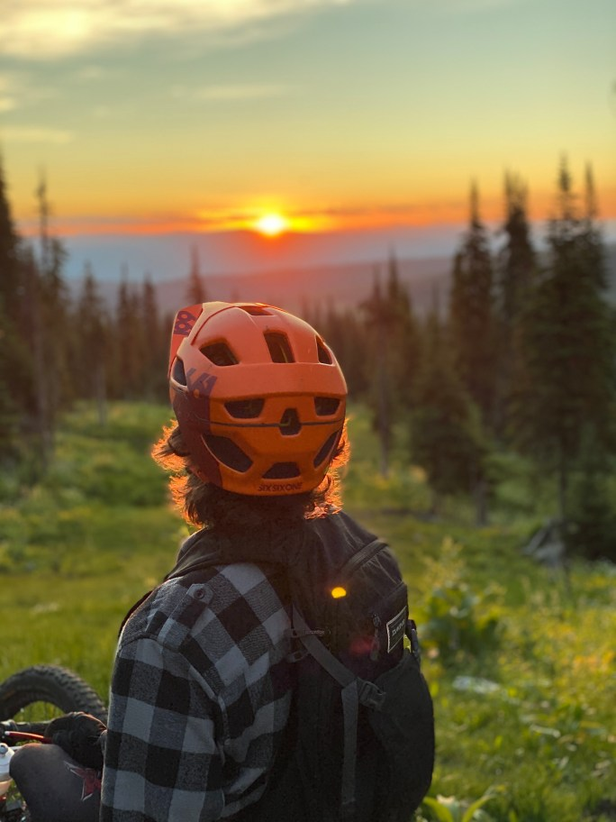 Josh Dueck takes in the Sunrise at Sun Peaks Resort.