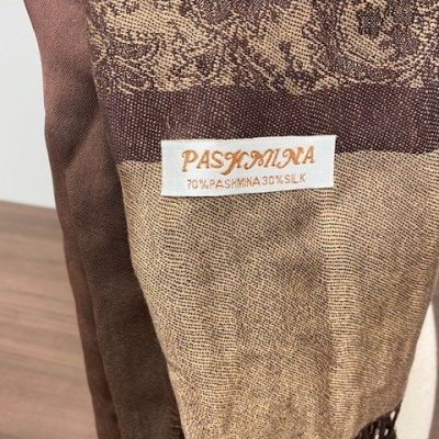 Pashmina Scarf Combo in Hazel and Beige with Clip
