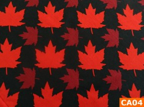 Warm Fleece Lined Winter Bandana With Maple Leaves On Black