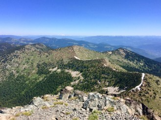 Looking out from the summit of Old Glory