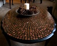 DIY Penny Tiled Table