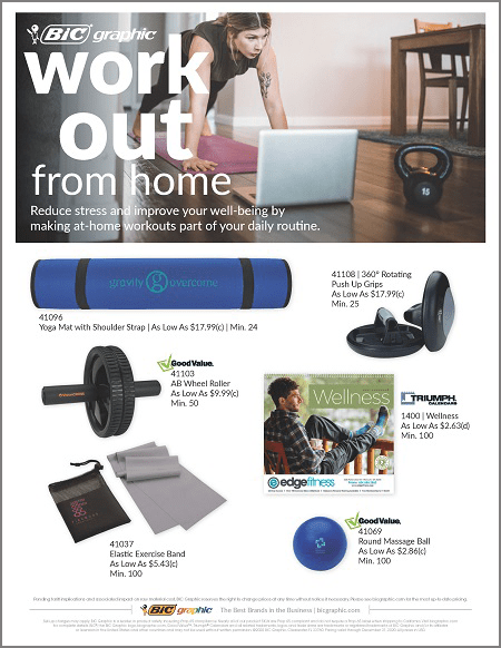 Work Out From Home Flyer