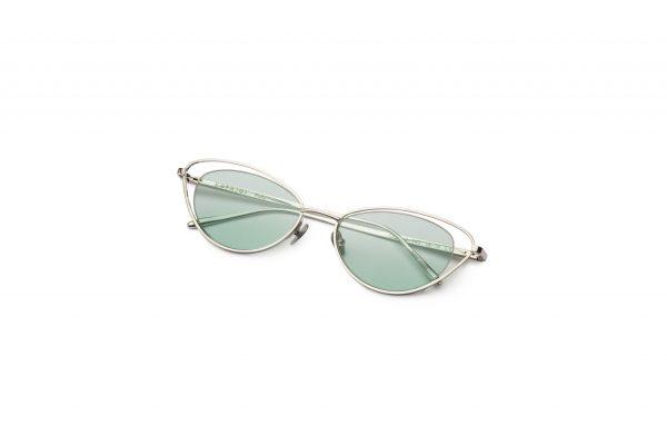 Shiny Silver/Light Green